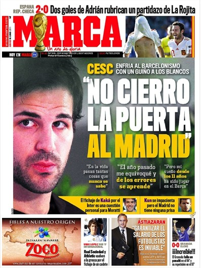 Madrid fichará Cesc