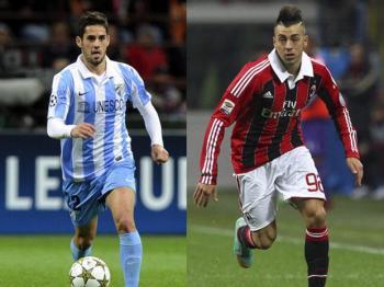 Isco y El Shaarawy, dos de las mayores promesas del fútbol europeo. Fuente: Getty